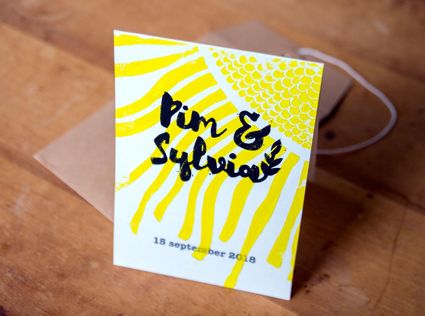 Trouwkaart Pim & Sylvia Linosnede