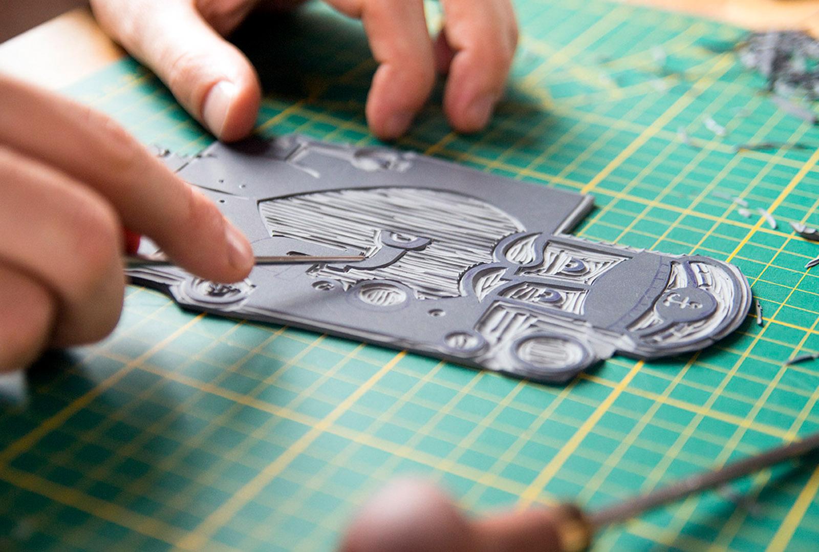 Workshop linoleum snijden en drukken