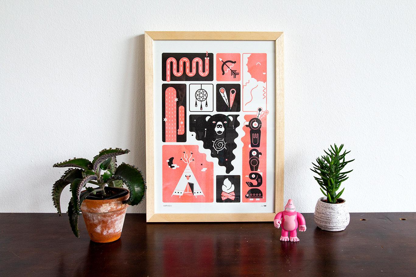 Westworld riso artprint