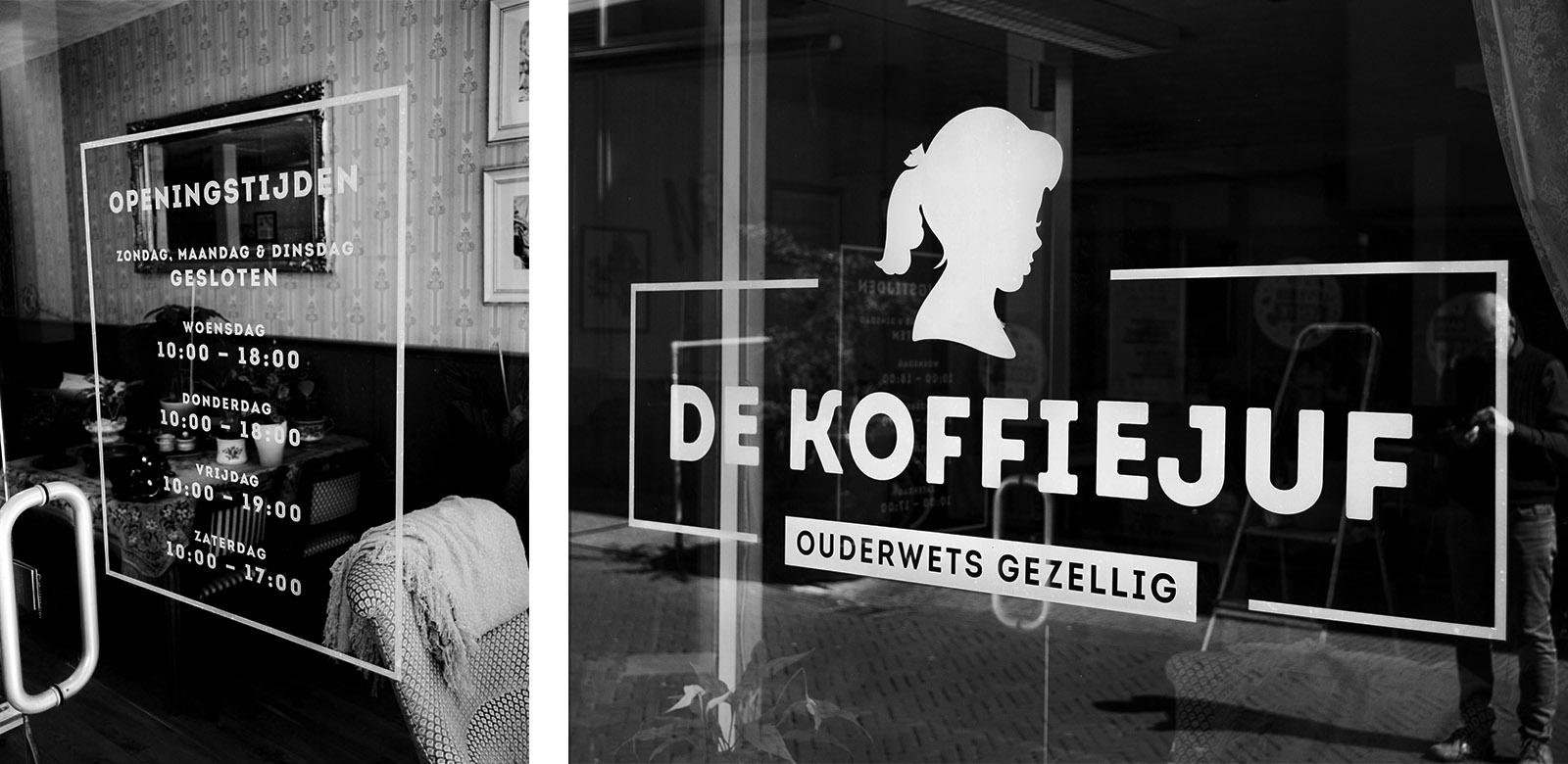 DeKoffieJuf logo koffiezaak huisstijl