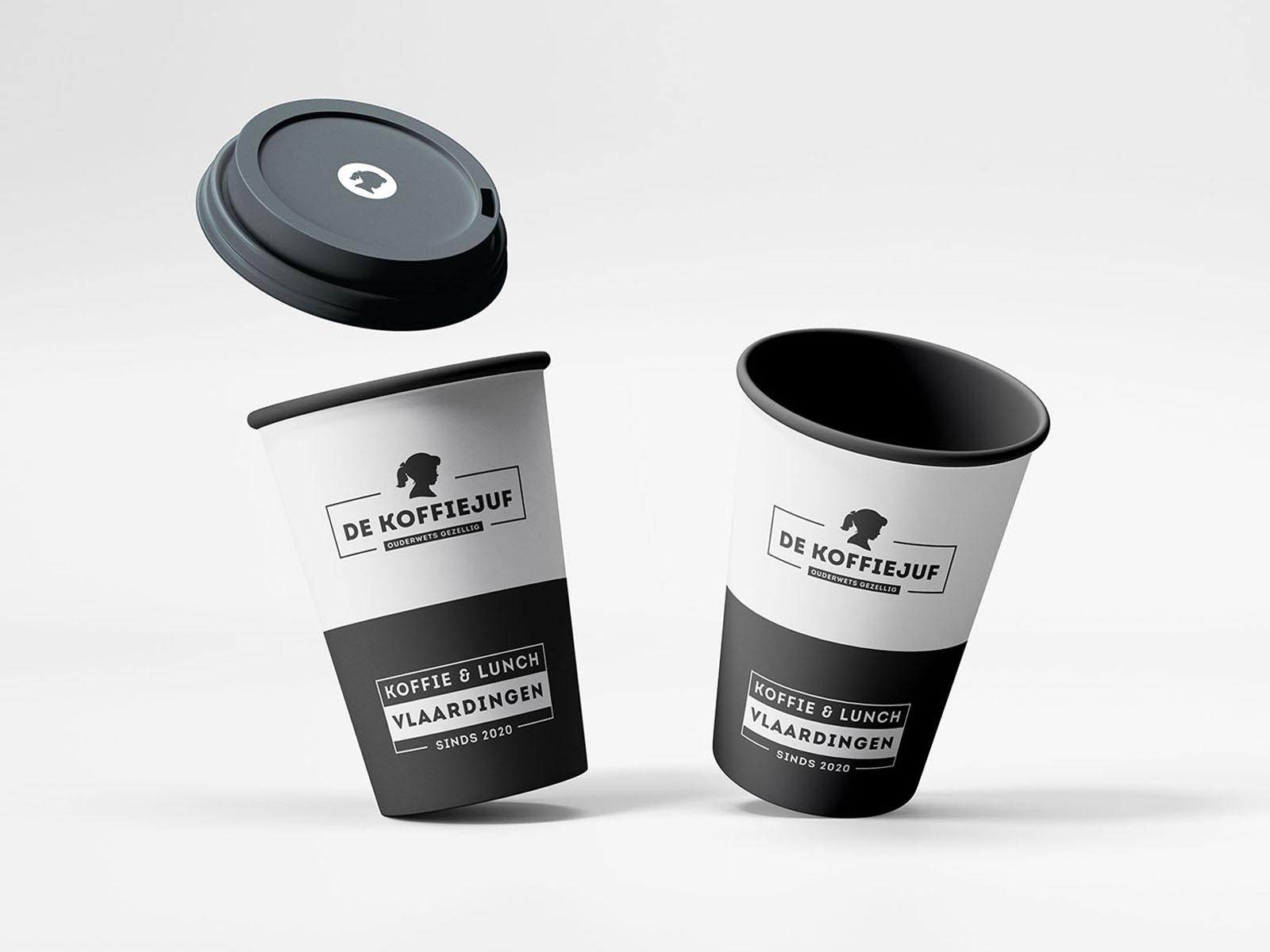 Koffie to go huisstijl-koffiezaak koffiebeker